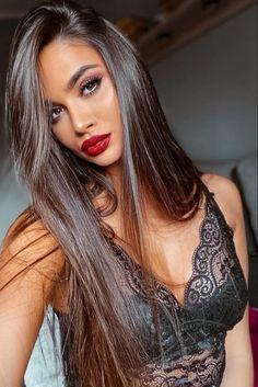 Brunette Beauty, Hair Beauty, Beauty Style, Tumbrl Girls, Look Girl, Gorgeous Hair, Beautiful, Dark Hair, Hair Inspiration