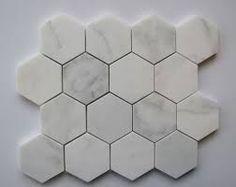 sekskantet marmor fliser