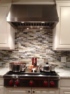Glass Tile Backsplash Kitchen Design Ideas, Pictures, Remodel, and Decor - page 11 | poshhome.info