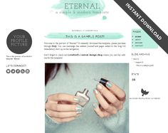 Free Blogger template download: Eternal! / SCRIBBLES OF VALÉRIE