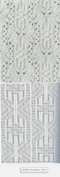 """Butterfly"" Lace knitting pattern with chart ~~ Узор ""Бабочка"" спицами ~~ http://woman7.ru/rukol/uzori-spicami/1286-uzor-babochka-spicami.html"
