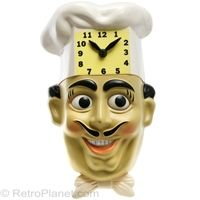 Chef Luigi Wall Clock #retro #decor  http://www.retroplanet.com/PROD/26059