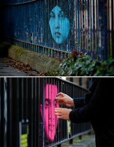 collected from web urbanist by mentalgassi for amnesty international - lenticular-graffiti-mentalgassi-2