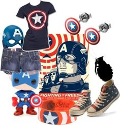 Captain America- The Avengers, Captain America: The First Avenger, Captain America Comics, etc. Comics created by Joe Simon and Jack Kirby. Book Characters, Disney Characters, Captain America Comic, Fandom Outfits, Casual Cosplay, Jack Kirby, Dc Heroes, Character Outfits, Marvel Avengers