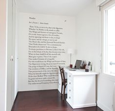 Wallpaper & wall decor original limited edition: Panoramic wallpaper Shakespeare To be or not to be Ohmywall
