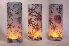 These tea light covers are great for setting the mood in your home, or at your various functions: weddings, parties or romantic dinners. There are many designs to choose from Light Covers, Romantic Dinners, Pillar Candles, Tea Lights, Table Lamp, Parties, Mood, Weddings, Design