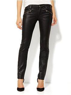 Zip Pocket Coated Denim Skinny Jean from New York & Company