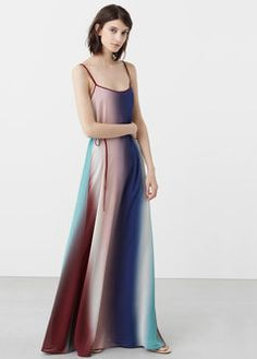 Vestido largo degradado