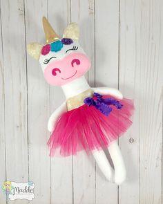 Unicorn Doll, Unicorn Soft Doll, Handmade Doll, Cloth Doll, Girls Birthday Gift, Baby Shower Gift, Unicorn present, Stuffed Animal