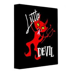 #Cute Little Red Devil Funny Graphic Binder - #Halloween happy halloween #festival #party #holiday