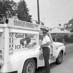 Good Humor Ice Cream - my favorite Raspberry Wahoo Bar . Good Humor Ice Cream, Good Humor Man, Yankee Doodle Dandy, Foto Picture, Ice Cream Van, My Childhood Memories, My Memory, The Good Old Days, Vintage Pictures