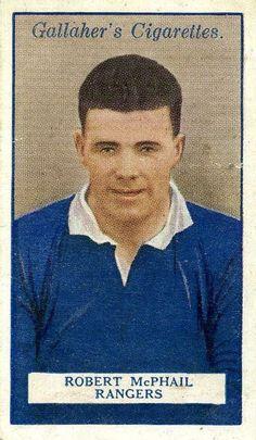 Bob McPhail of Rangers in Rangers Football, Rangers Fc, Football Cards, Baseball Cards, Paninis, Glasgow, Bears, Legends, Bob