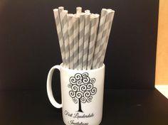 silver & white spiral striped paper straws #partyessentials #party #paperstraws #straw #fortlauderdaleinvitations #partysupplies #supplies