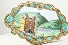 RARE Vintage Antique Italy Italian 800 Silver Castle Scene Compact | eBay