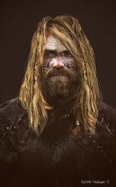 bearded man 3, Anton Kazakov on ArtStation at https://www.artstation.com/artwork/bearded-man-3