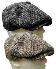 stetson wool tweed gatsby cap hat golf flat | eBay