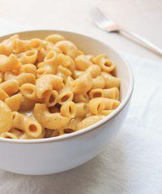 Spicy Vegan Mac & Cheese - Nutritional Yeast, Milk, Chili Powder, Chipotle Powder, Garlic Powder, Flour, Salt