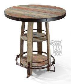 Solid Pine Wood Rustic Bistro Pub u0026 Stool Set in Multi-colored Finish  sc 1 st  Pinterest & Rustic Pub Table | Furniture items | Pinterest | Basements Bar and ...