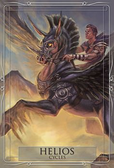 Helios - Blue Angel Publishing - Gods & Titans Oracle - Stacey Demarco - Illustrations by Jimmy Manton