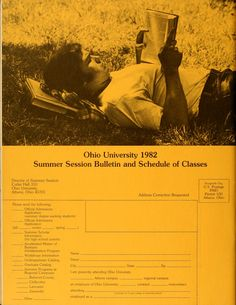 Ohio University bulletin. Summer school, 1982