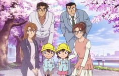 My Favorite Family Photo From Detective Conan. Detective Conan Ran, Detective Conan Shinichi, Ran And Shinichi, Kudo Shinichi, Magic Kaito, Happy Tree Friends, Sherlock Holmes, Manga Anime, Anime Art