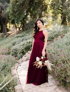 Reverie Spring 2018 Bridesmaids Collection from David's Bridal styled by Green Wedding Shoes   Burgundy wedding inspiration, burgundy bridesmaid dresses #weddingshoes