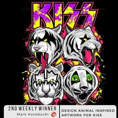 All The Latest KISS News, Press Release and Appearance Information Paul Stanley, Gene Simmons, Rock N Roll, Tiger Logo, Kiss Me Love, Harley Davidson Art, Kiss Art, Caricature Artist, Ace Frehley