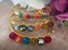 Bangles, Bracelets, Wire Work, Jewelry Ideas, Jewlery, Random, Gold, Inspiration, Earrings Handmade