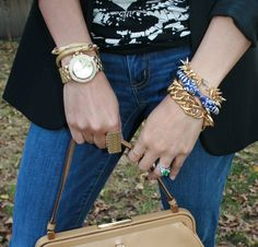 #StellaandDot #armparty #armcandy #armswag #wristparty - PS BANANAS #Minneapolis #fashionblog #PRADA #purse