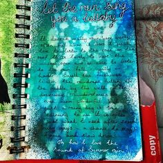 let the rain sing you a lullaby #artjournal
