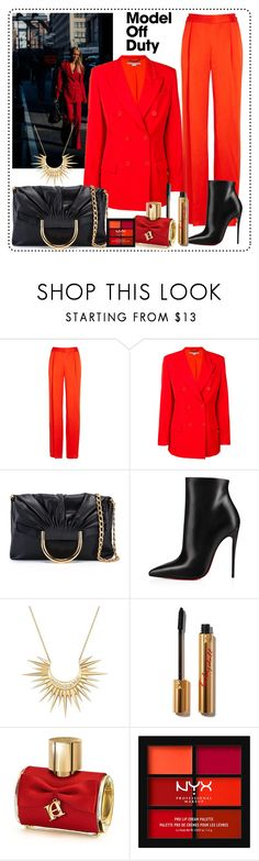 """""""Woman in red"""" by krista-zou ❤ liked on Polyvore featuring STELLA McCARTNEY, Christian Louboutin, Celine Daoust, Carolina Herrera and NYX"""