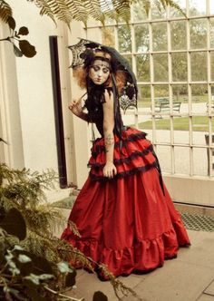 THE CRIMSON PETAL Victorian Steampunk Gothic Governess Skirt & Bustle Period Drama Aristocrat - Lovechild Boudoir