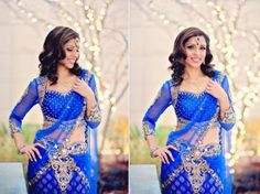 Blue Bridal Lengha