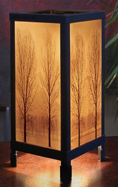 SA- Porcelain lithopane luminaries by Porcelain Garden