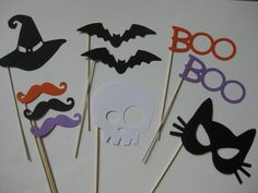 Halloween 10 Piece Photo Booth Props (by olivetreemonograms)