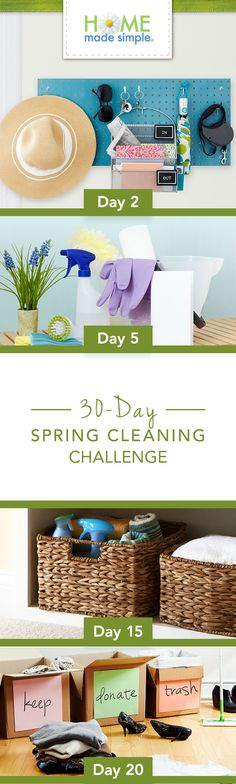 All it takes is one task a day. Clean and organize every corner of your home with our free printable spring cleaning challenge.   https://www.pgeveryday.com/home/cleaning/article/easy-home-organization-1-day-1-task