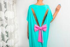 Mint Backless dress, Maxi Dress, caftan, Backless dress, Open back dress, Oversized dress,Cover up dress,Summer dress