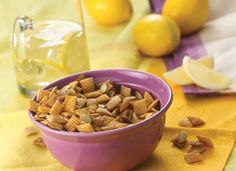 celebrate national lemonade day with lemonade chex mix!