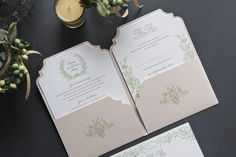 #stationery #letterpress #vintage #weddinginvitation #inspiration #weddingstyle #weddingday #design #lenahoschek #flower #roses #diecut #savethedate #pocketfold #gold #elegant #luxury