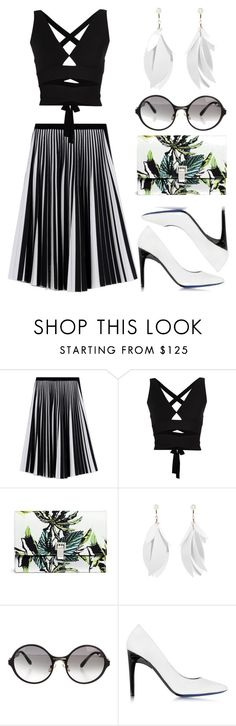 """Proenza Outfit"" by jesstyle80 on Polyvore featuring Proenza Schouler, women's clothing, women, female, woman, misses, juniors, blackandwhite, proenza and womensFashion"
