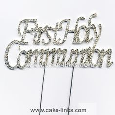 First Holy Communion wording cake decoration