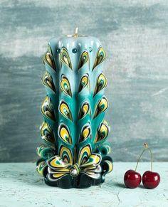 [夏セール] カービング キャンドル クジャク carving candle | big|キャンドル|ハンドメイド通販・販売のCreema