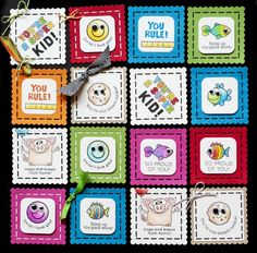 Summer School with Jennifer McGuire using Simon Says stamp Exclusives for Perfect Little Lunchbox Notes. August 2014