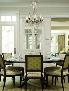 Elegant Interior Design Ideas Crystal Chandelier Classic Dining Table
