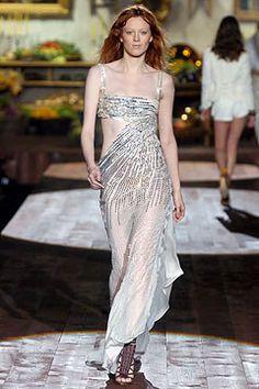 Roberto Cavalli Spring 2005 Ready-to-Wear Fashion Show - Karen Elson