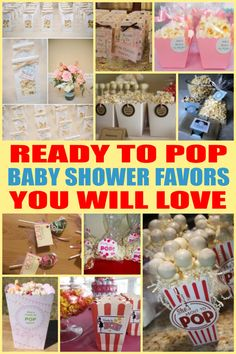Find the best ready to pop baby shower favors! Get the top favor ideas that all your guests will love. Unique and creative ready to pop baby shower favor ideas