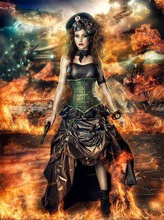 The final war in Showcase of Fashion Steampunk Photography