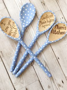 Excited to share this item from my shop: Blue polka dot decorative wooden spoon Wooden Spoon Crafts, Wooden Spoons, Wooden Diy, Wood Crafts, Painted Spoons, Hand Painted, Decor Crafts, Easy Crafts, Blue Polka Dots