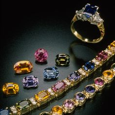 Different Sapphire Colors! They look gorgeous with yellow gold!
