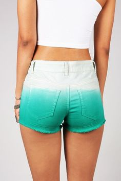 Ink Dip Shorts | Trendy Shorts at Pink Ice. Way to short for me but I like the idea